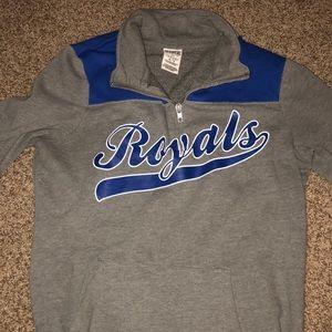 Royals baseball quarter zip